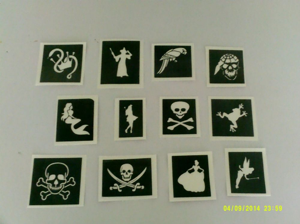 Princess Amp Pirate Themed Stencils Mixed For Glitter